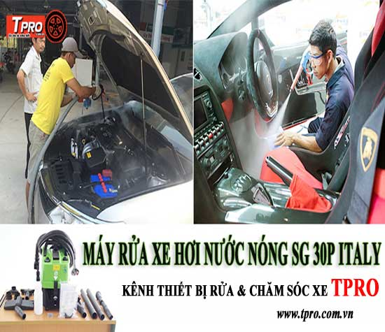 máy rửa xe hơi nước nóng sg 30p