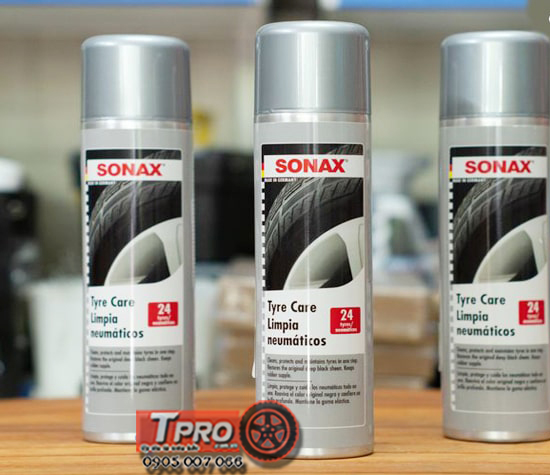 dung dich lam sach va bao duong lop vo xe sonax tyre care 435300 2
