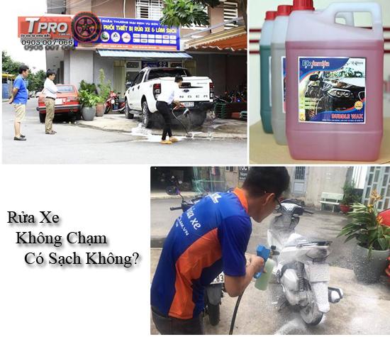 rua xe khong cham co sach khong