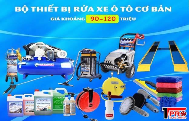 bộ thiết bị rửa xe ô tô tpro