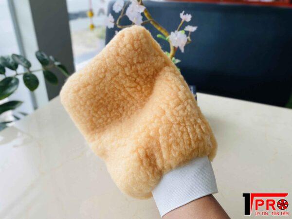 Găng tay rửa xe lông cừu 2 mặt